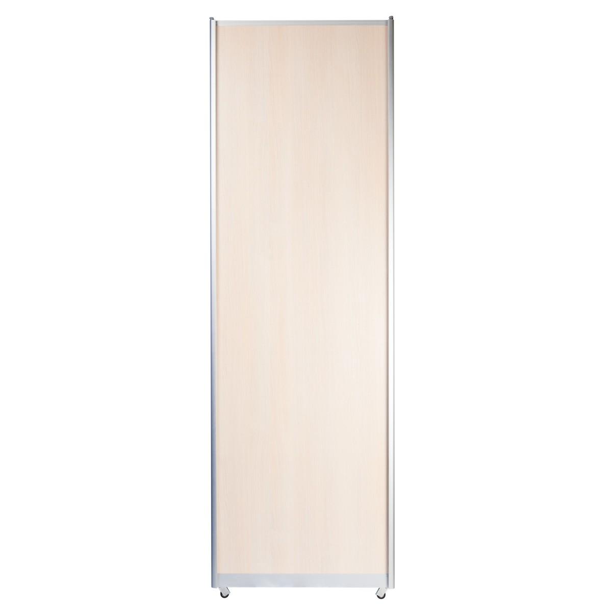 Дверь-купе 2117х704 мм цвет дуб беленый/алюминий