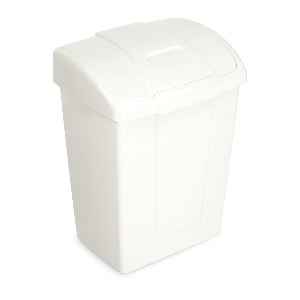 Контейнер для мусора Форте MIO 23 л цвет молочный