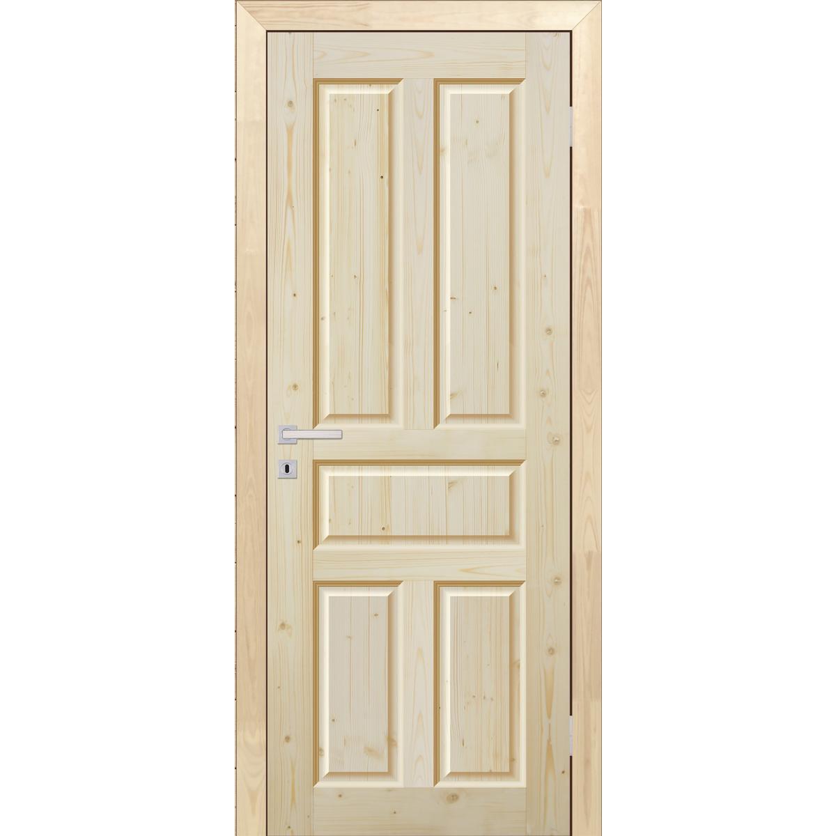 Дверь Межкомнатная Глухая Кантри 80x200 Массив Хвои Цвет Натуральный