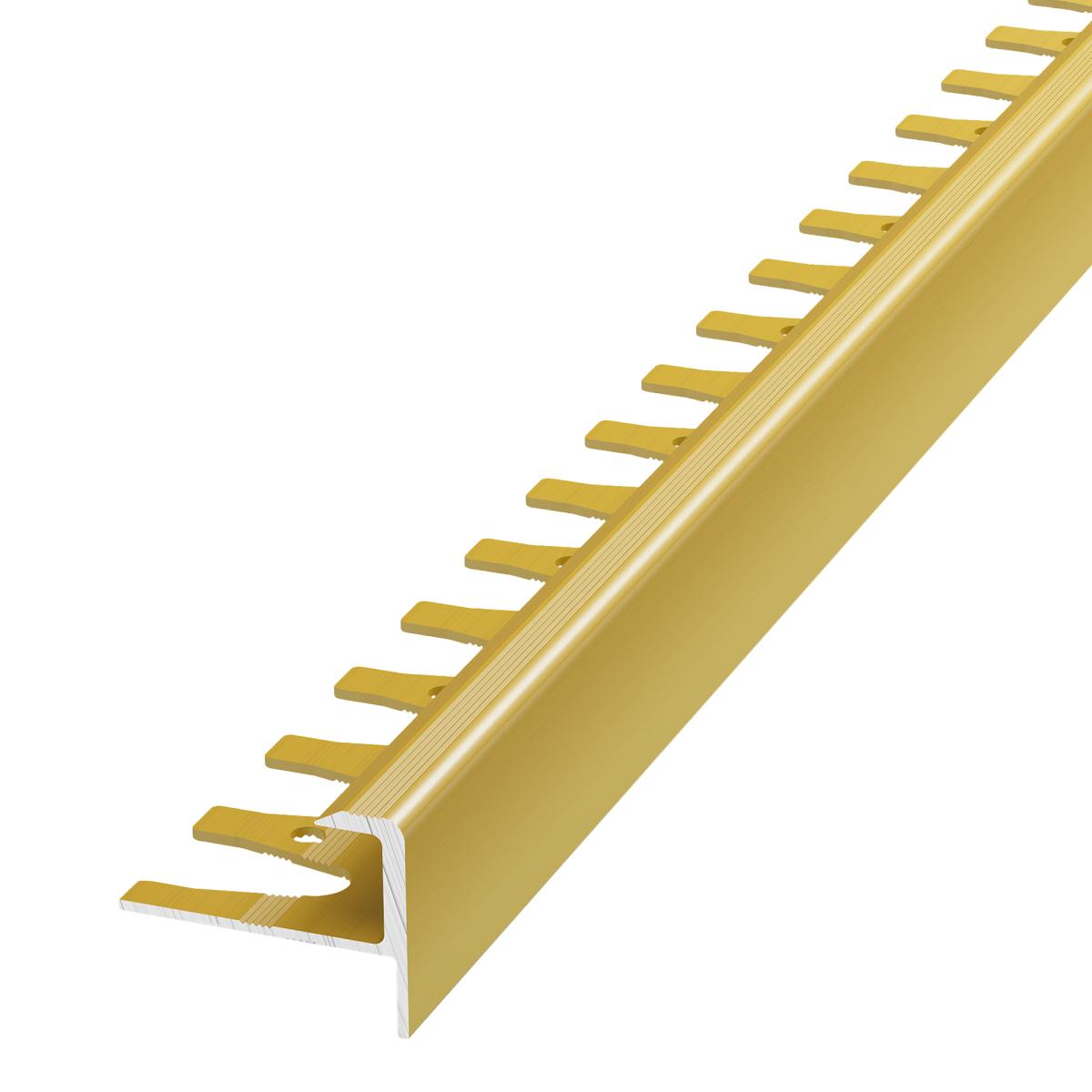 Профиль гибкий для ступений 270 см цвет золото