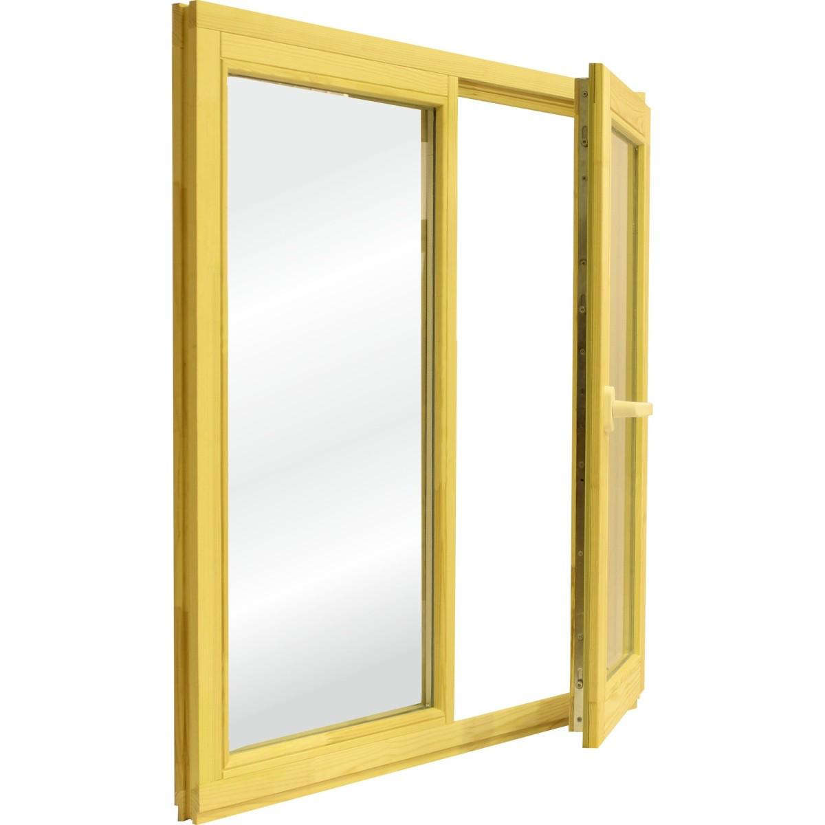 Окно деревянное 116х117 см глухое/поворотное однокамерный стеклопакет
