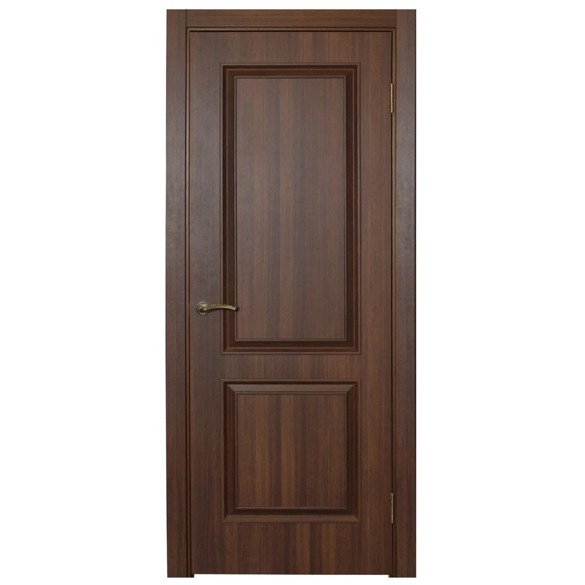 Дверь Межкомнатная Глухая Ventura 60x200 Пвх Цвет Золотой Орех