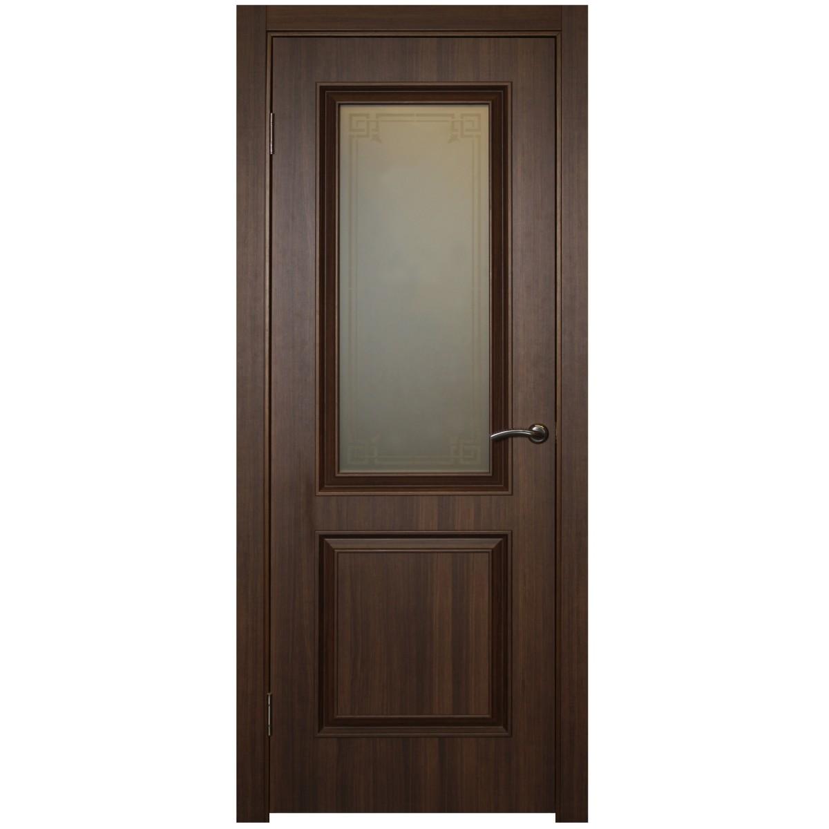 Дверь межкомнатная остеклённая Ventura 70x200 см ПВХ цвет золотой орех