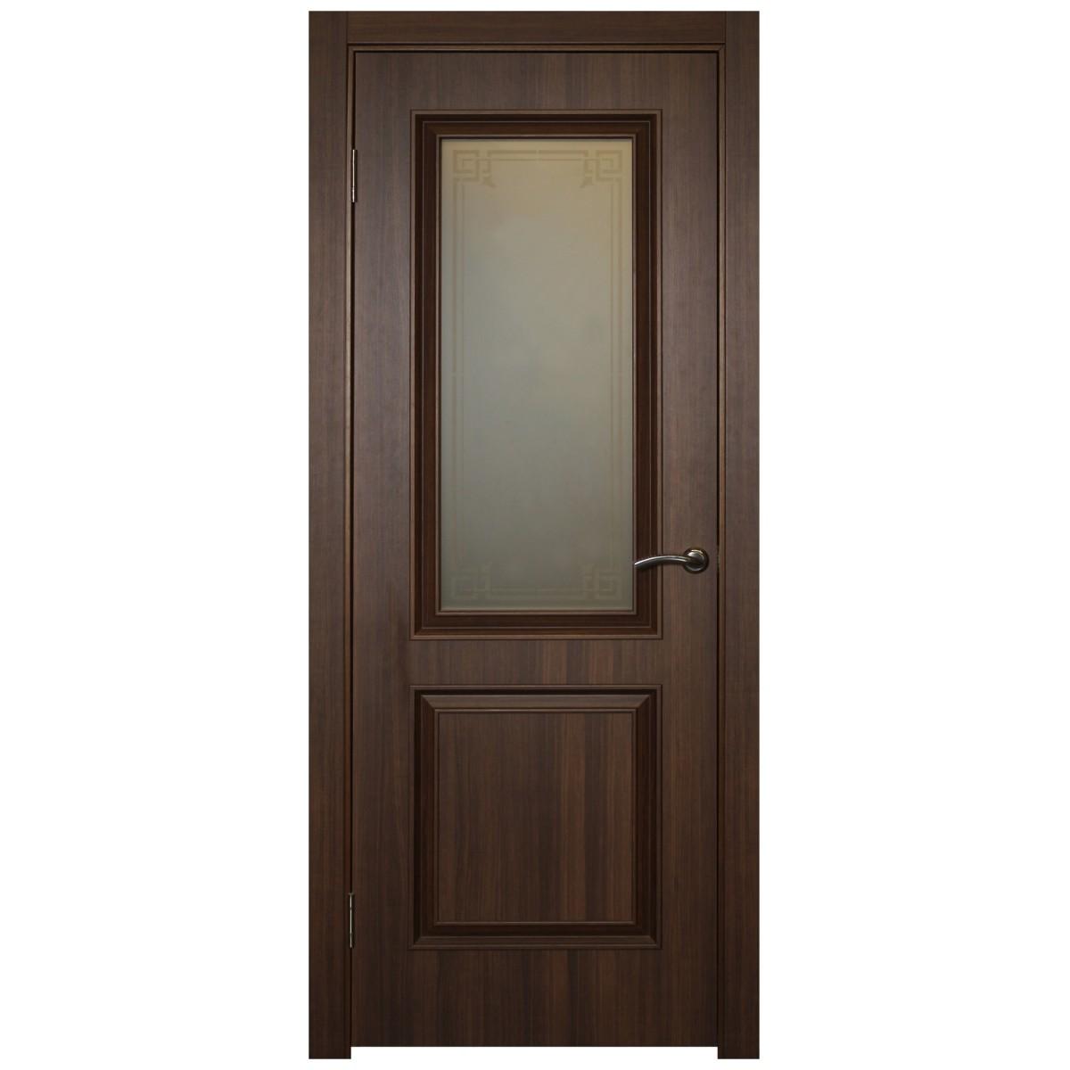 Дверь межкомнатная остеклённая Ventura 80x200 см ПВХ цвет золотой орех