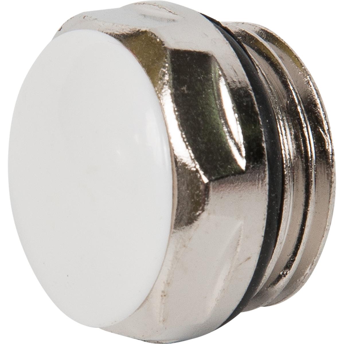 Заглушка с прокладкой наружная резьба 1/2 цвет никель