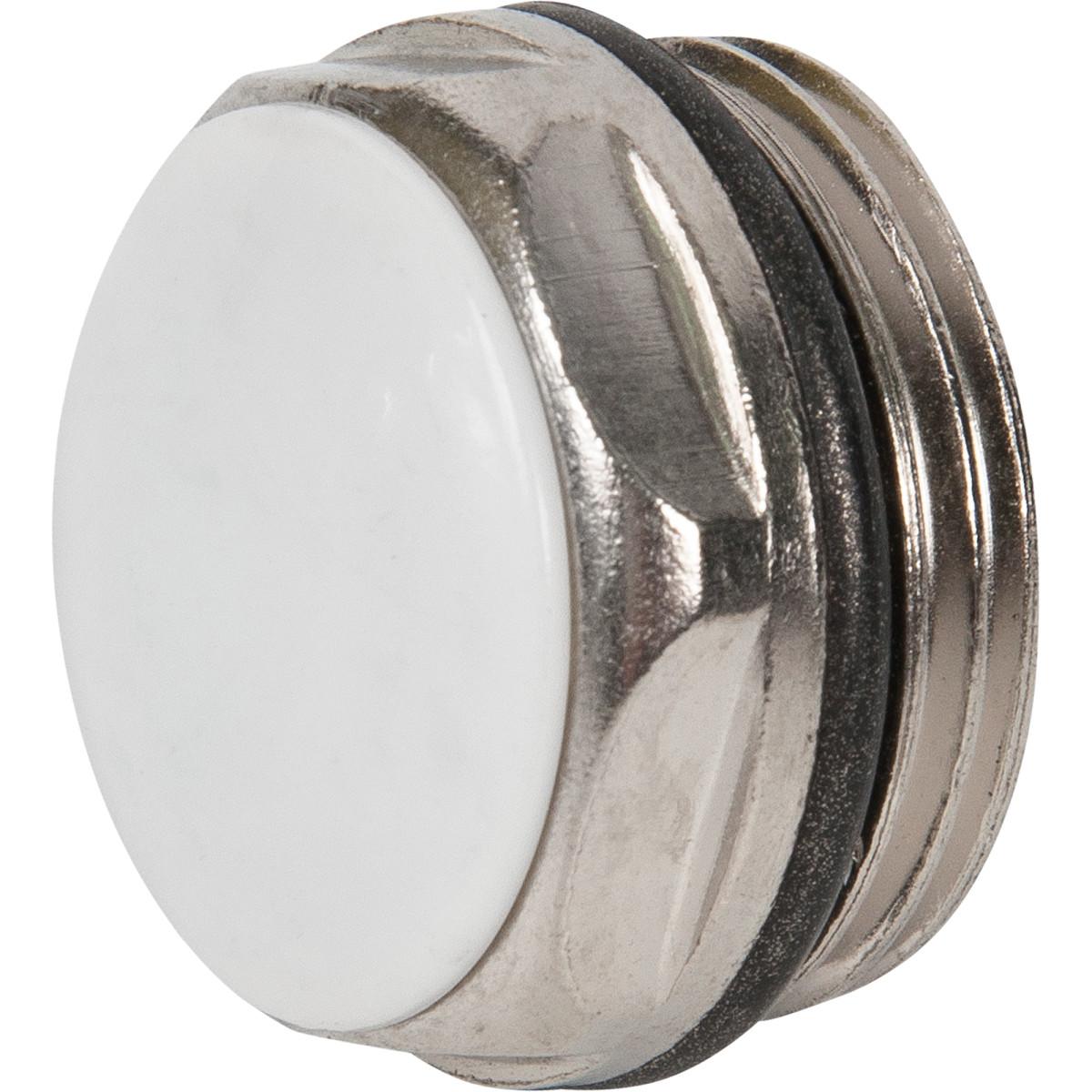 Заглушка с прокладкой наружная резьба 3/4 цвет никель