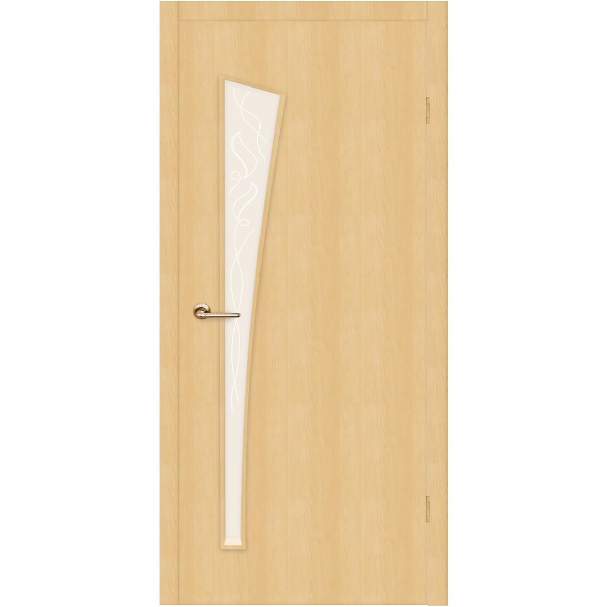 Дверь межкомнатная остеклённая Belleza 80x200 см ламинация цвет дуб белый