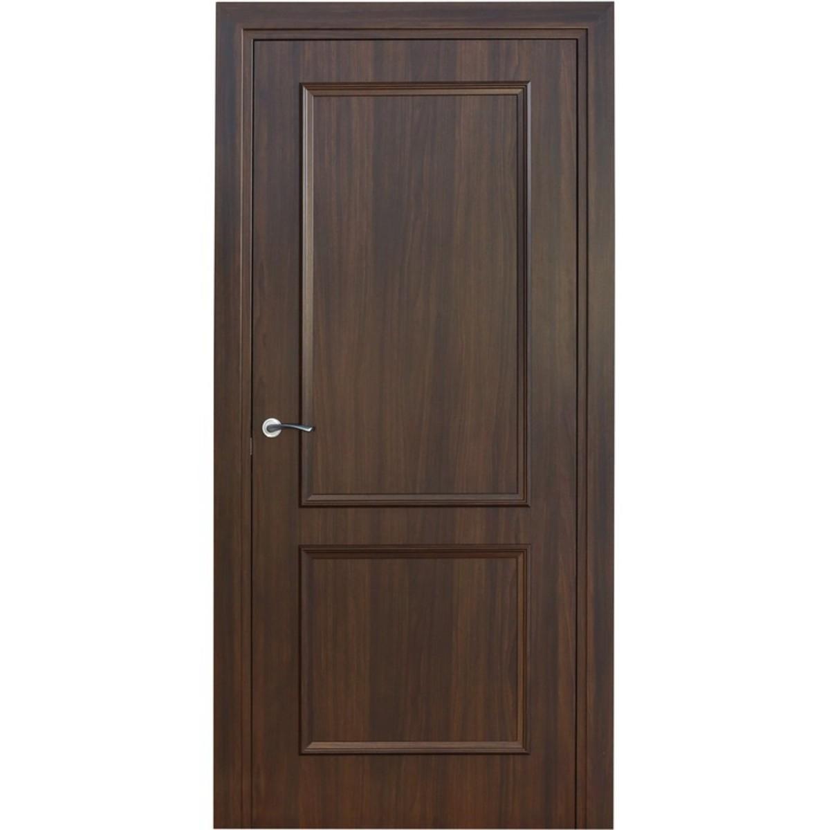 Дверь межкомнатная глухая Altro 80x200 см ламинация цвет орех марроне