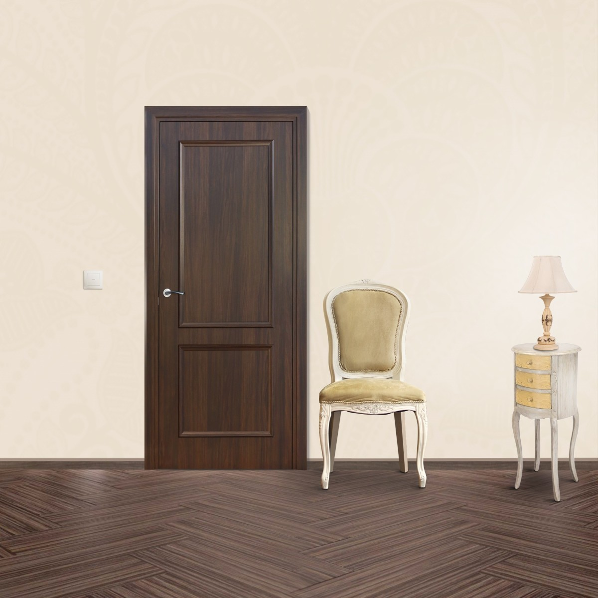 Дверь Межкомнатная Глухая Altro 90x200 Ламинация Цвет Орех Марроне
