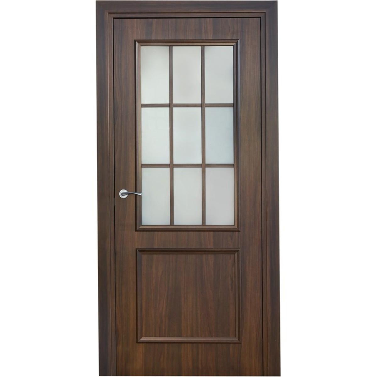 Дверь межкомнатная остеклённая Altro 90x200 см ламинация цвет орех марроне