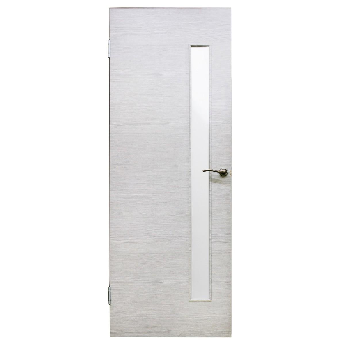 Дверь межкомнатная остеклённая Эклипс 70x200 см цвет серый дуб