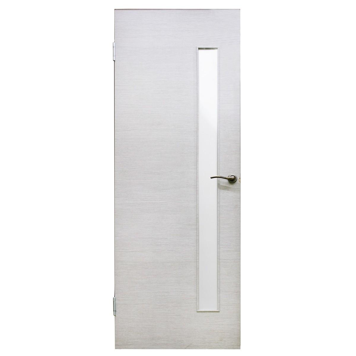 Дверь межкомнатная остеклённая Эклипс 80x200 см цвет серый дуб