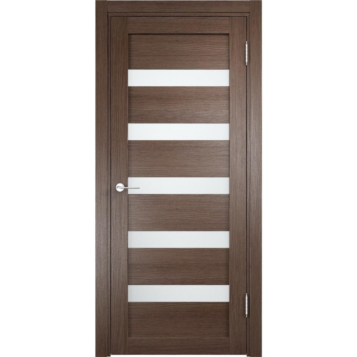 Дверь межкомнатная остеклённая Ницца 90x200 см ПВХ цвет дуб неаполь с фурнитурой