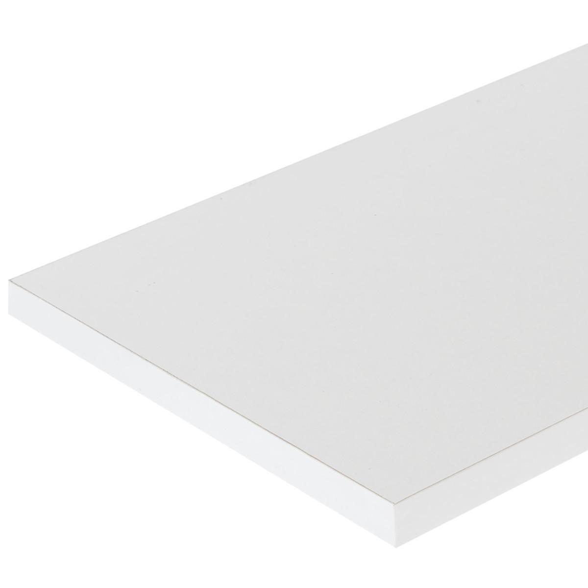 Деталь мебельная 2700х100x16 мм ЛДСП цвет белый кромка с длинных сторон