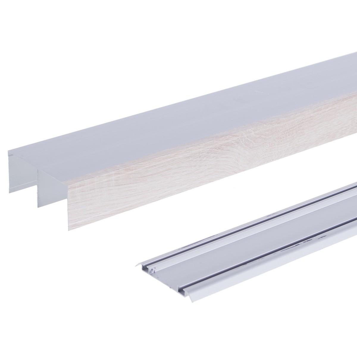 Комплект направляющих 1383 мм цвет дуб/серебро