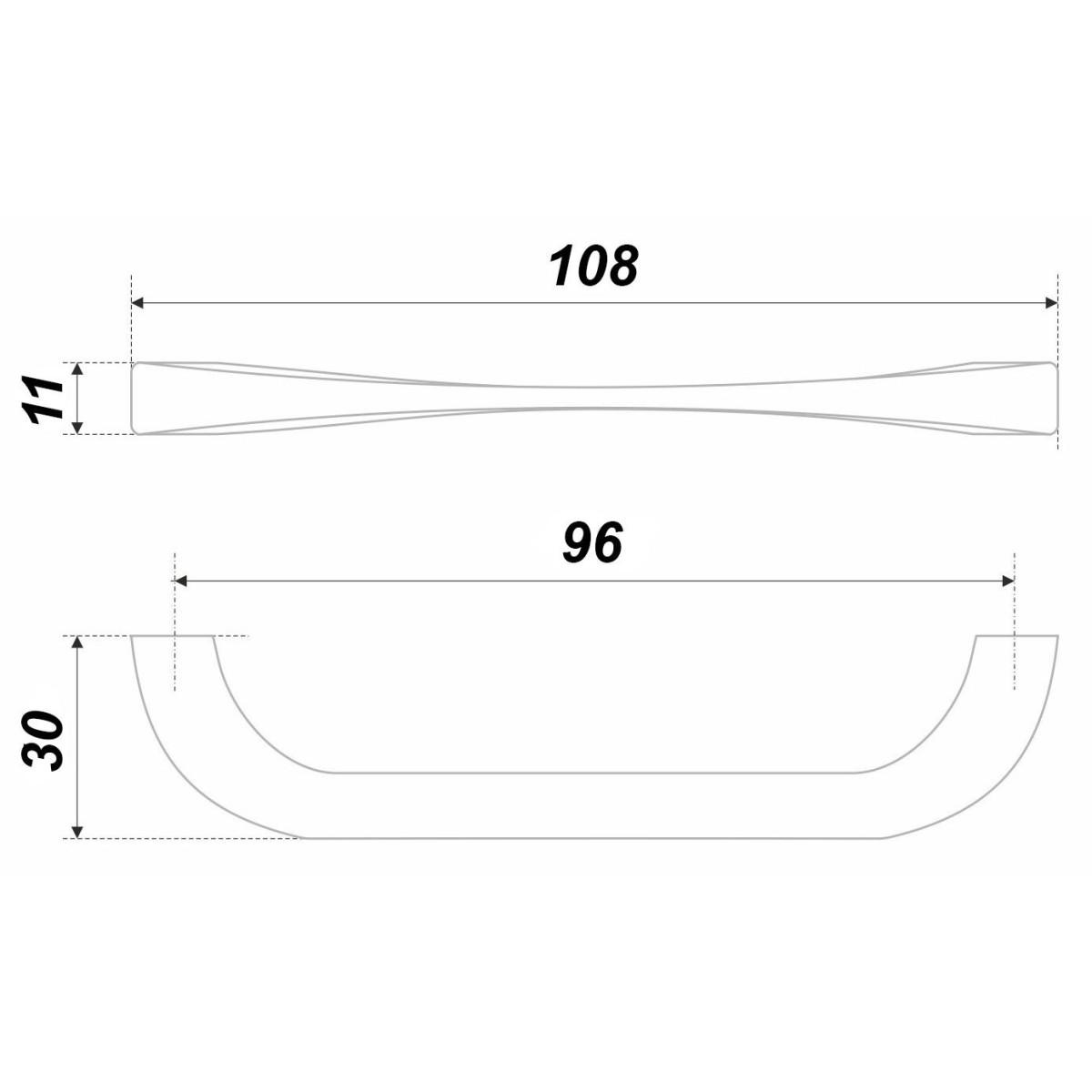Ручка-Скоба Boyard Rs442baz4 96 Металл Цвет Античный Цинк