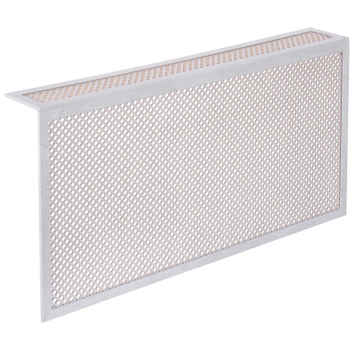 Короб декоративный для радиатора Глория 60х120 см цвет пепельный