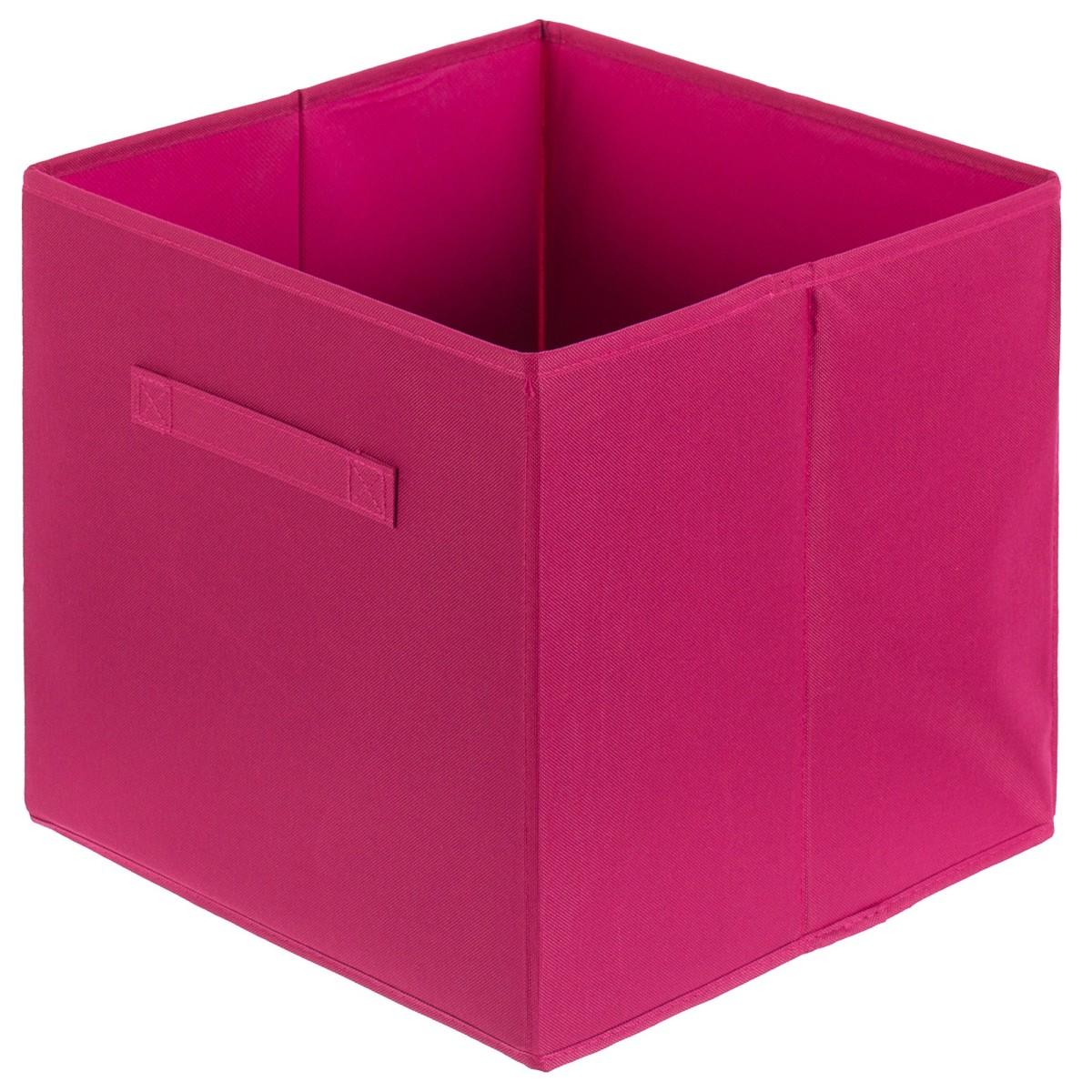 Короб Spaceo 310x310x310 мм 29.8 л полиэстер цвет розовый