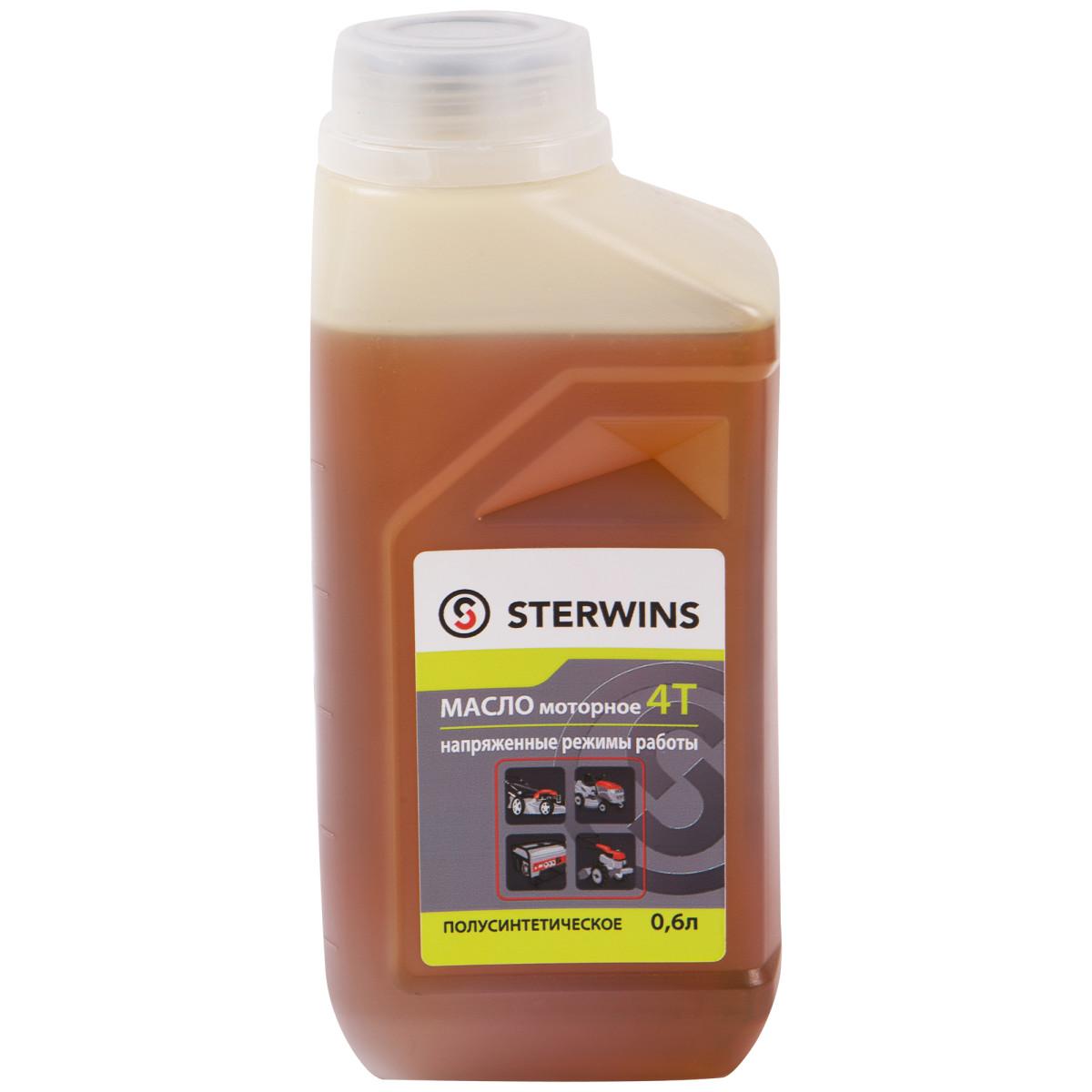 Масло моторное 4Т для напряженных режимов Sterwins 10W40 полусинтетика 0.6 л
