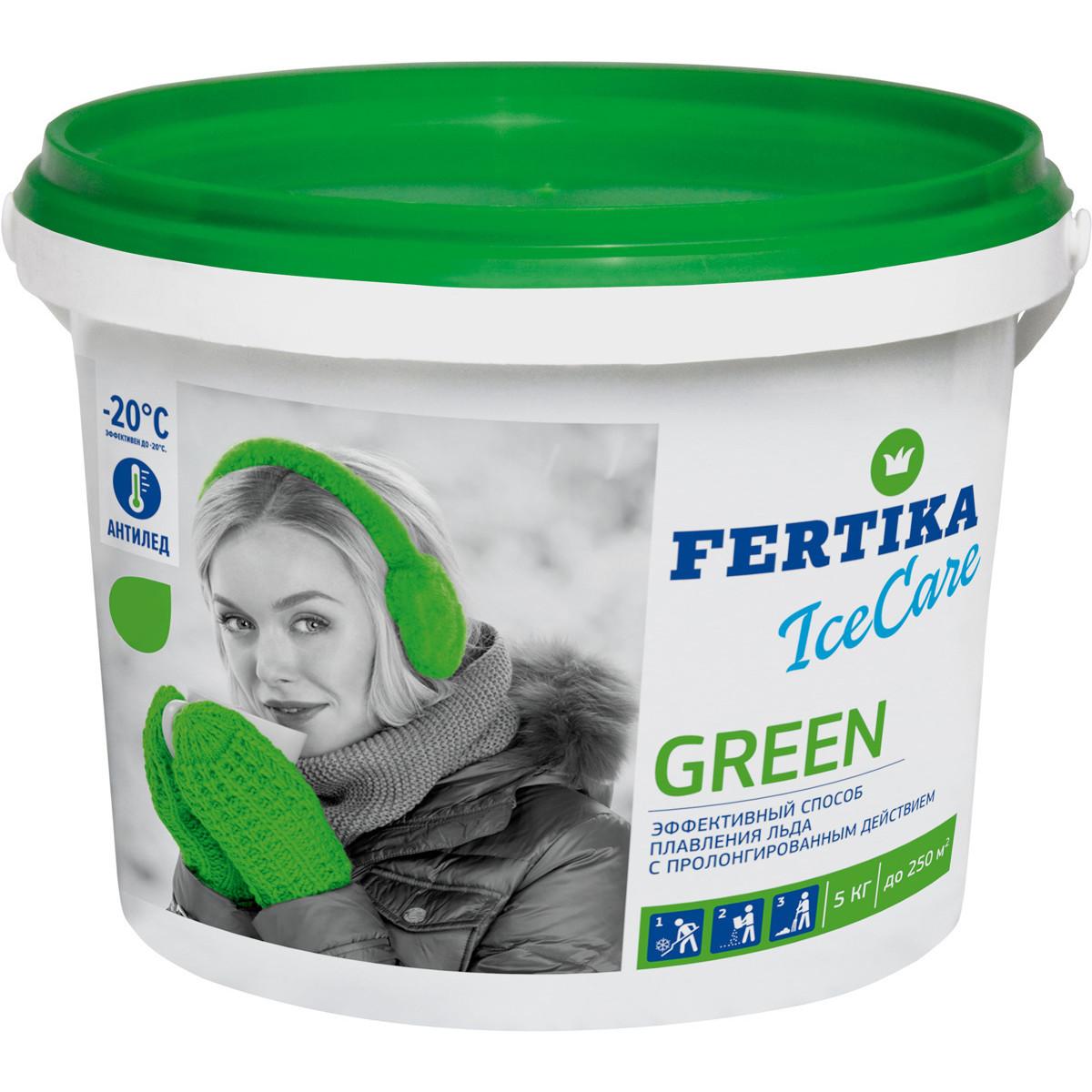 Противогололедное средство Фертика Ice Care Green 5 кг