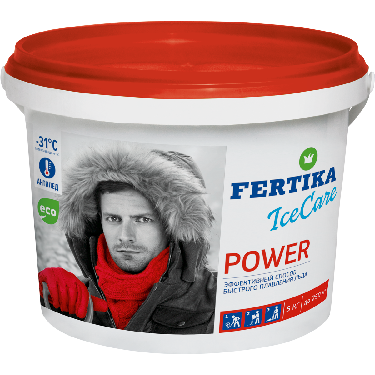 Противогололедное средство Фертика Ice Care Power 5 кг