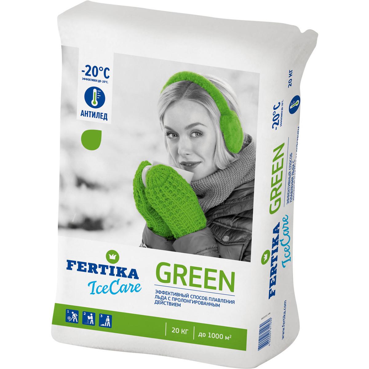 Противогололедное средство Фертика Ice Care Green 20 кг