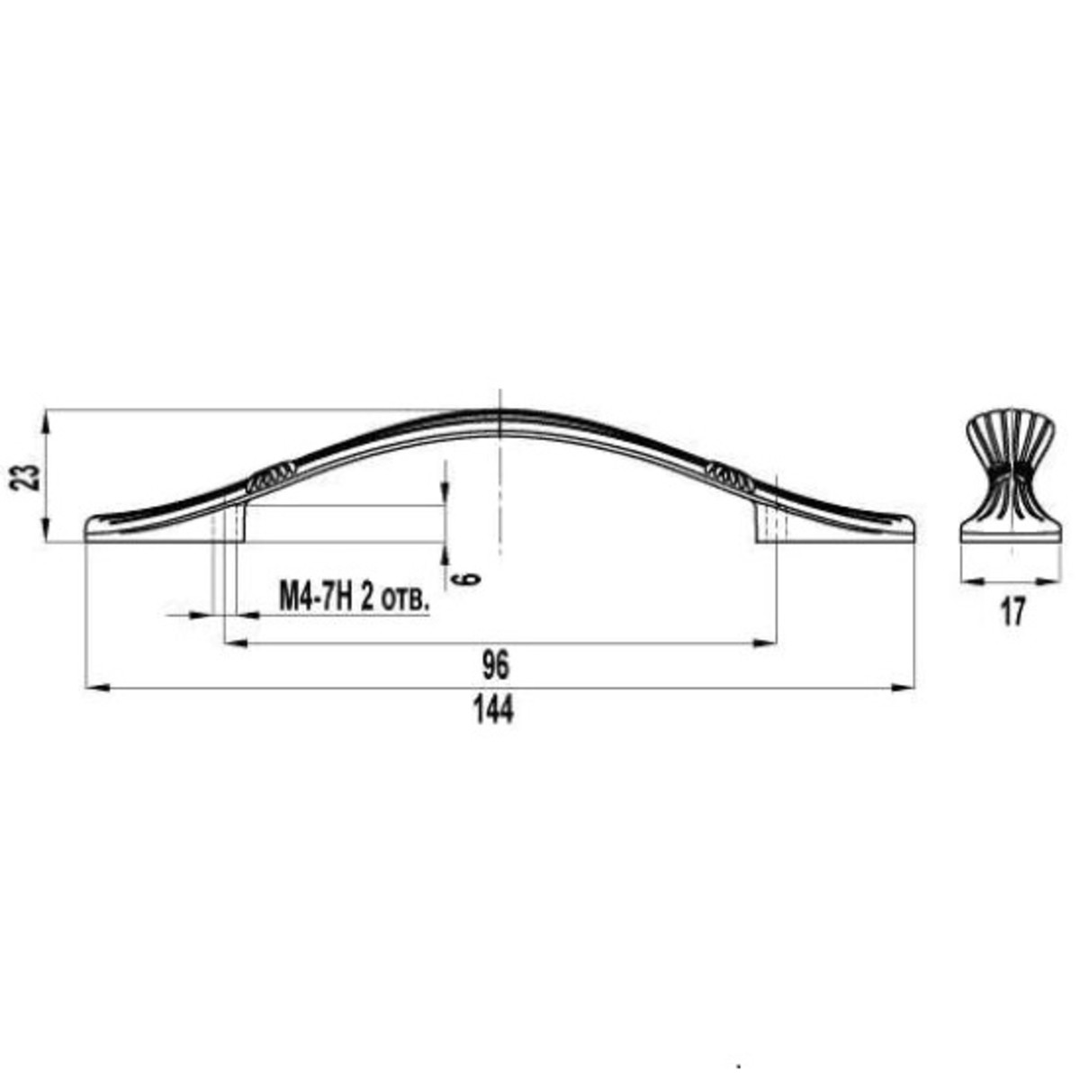 Ручка-Скоба Fs-135 96 Цвет Хром Глянцевый