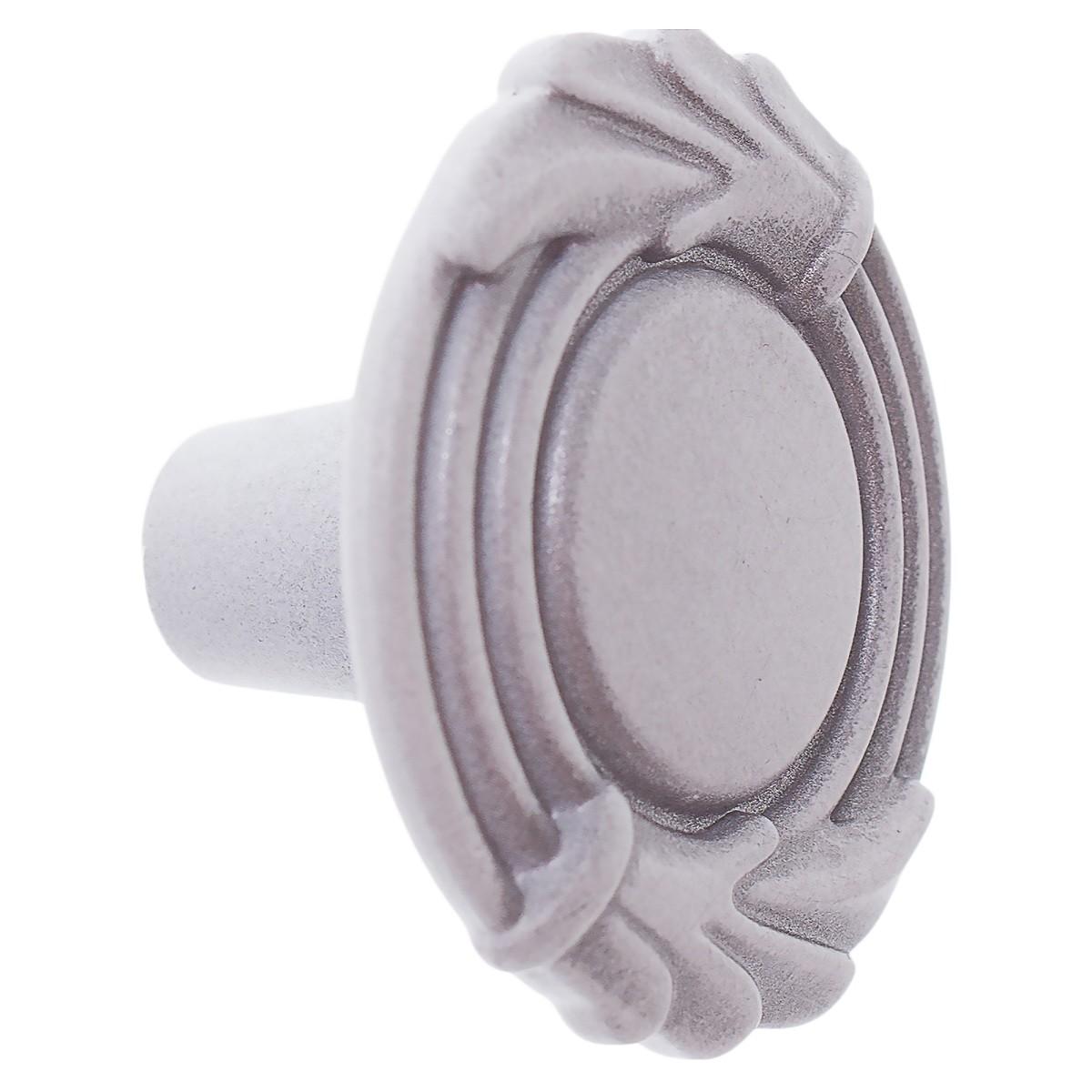Ручка-кнопка FB055 серый прованс/белый матовый