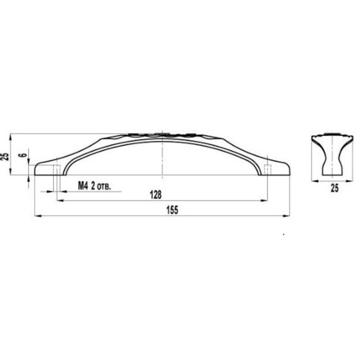 Ручка-Скоба Fs-128 128 Цвет Серебро Прованс/Белый Матовый