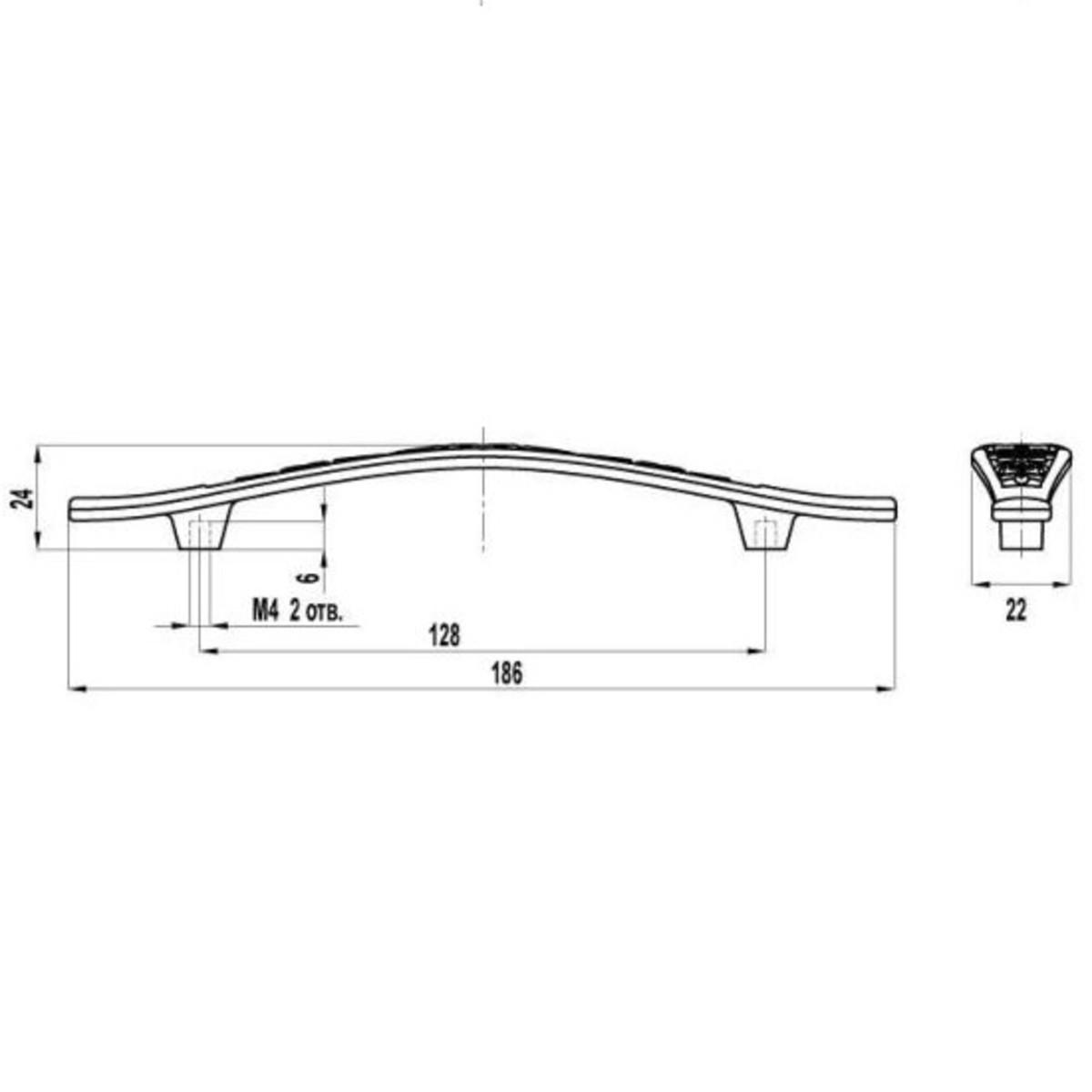 Ручка-Скоба Fs-123 128 Цвет Бронза