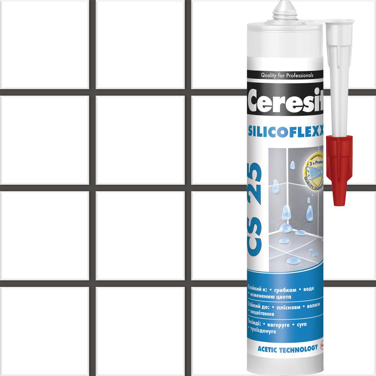 Затирка силиконовая Ceresit CS 25 цвет графит