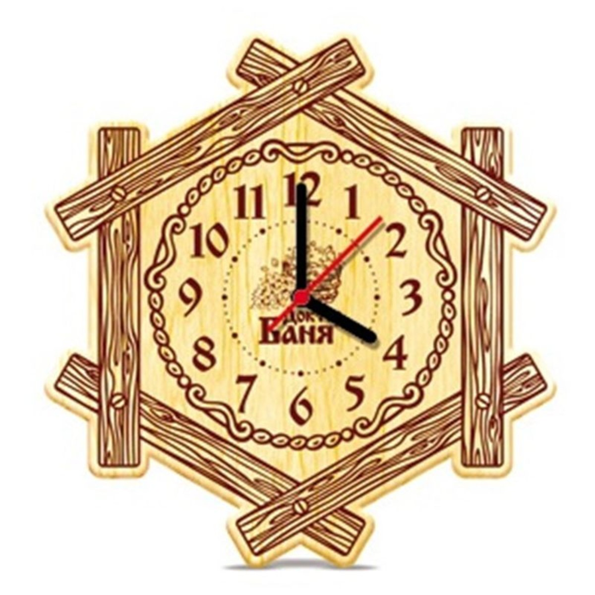 Часы настенные для бани «Теремок»