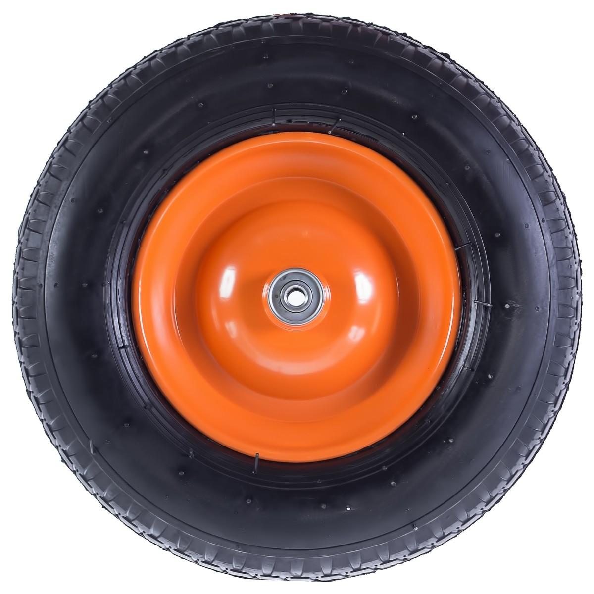 Колесо для тачки пневматическое Palisad 689833 размер 4.80/4.00-8 диаметр втулки 12 мм. D380 мм.