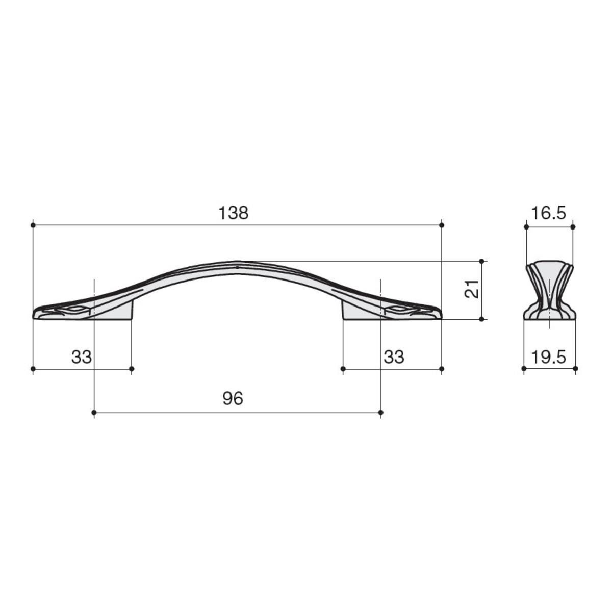 Ручка-Скоба M31196cof 96 Металл Цвет Кофе