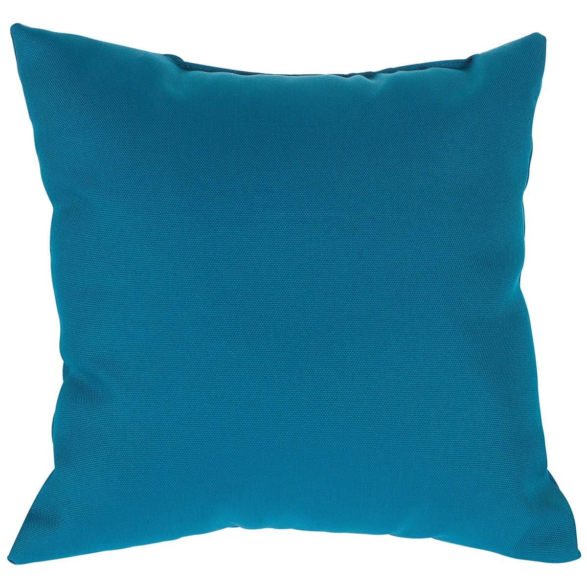 Подушка декоративная 40х40 см цвет бирюзовый
