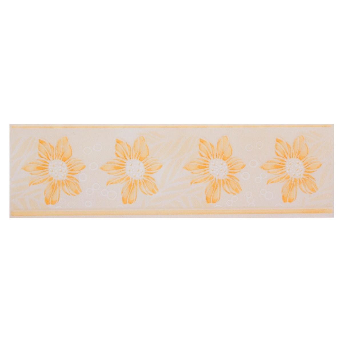 Декор «Валентино Георгин» 5.7х20 см цвет песочный