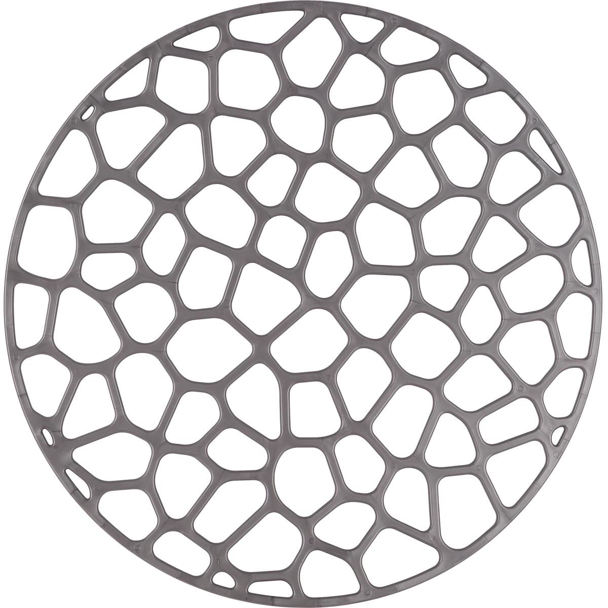 Решетка в мойку 30х30 см цвет металлик