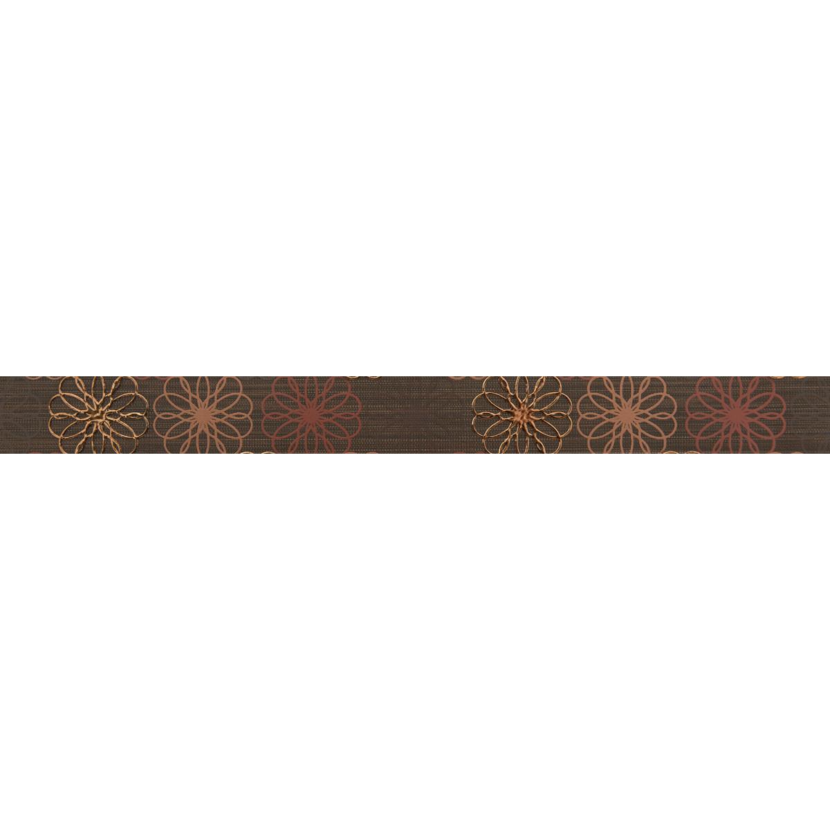 Бордюр «Дария 4» 50х4.7 см цвет коричневый