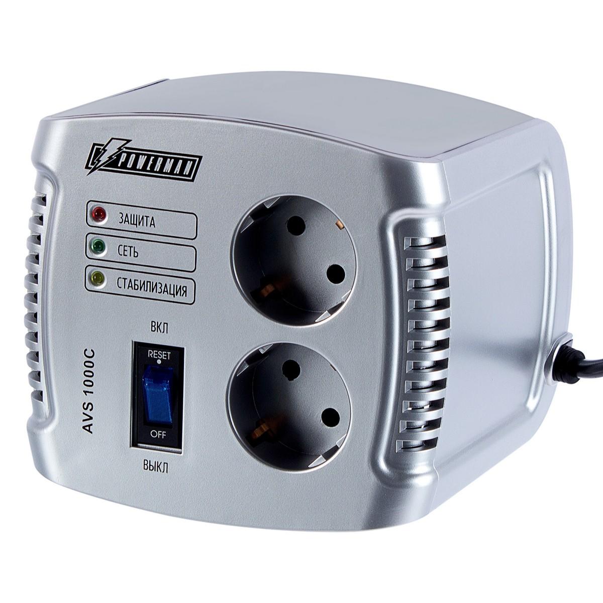 Стабилизатор напряжения Powerman  AVS 1000С (Cube)