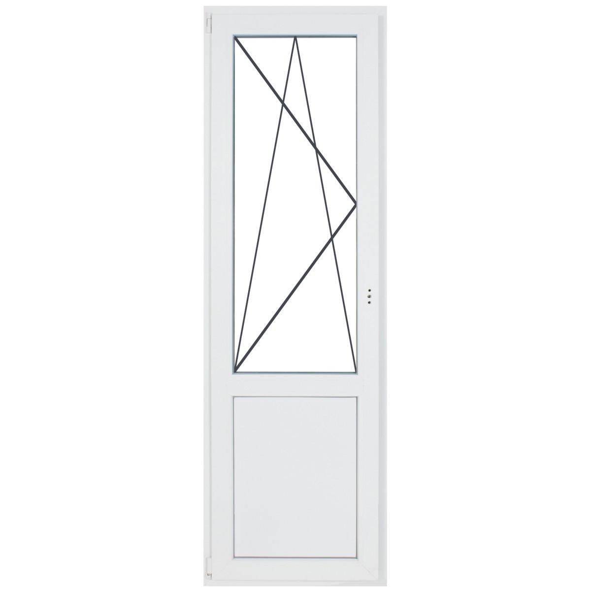 Дверь балконная ПВХ 218х67 см двухкамерная левая