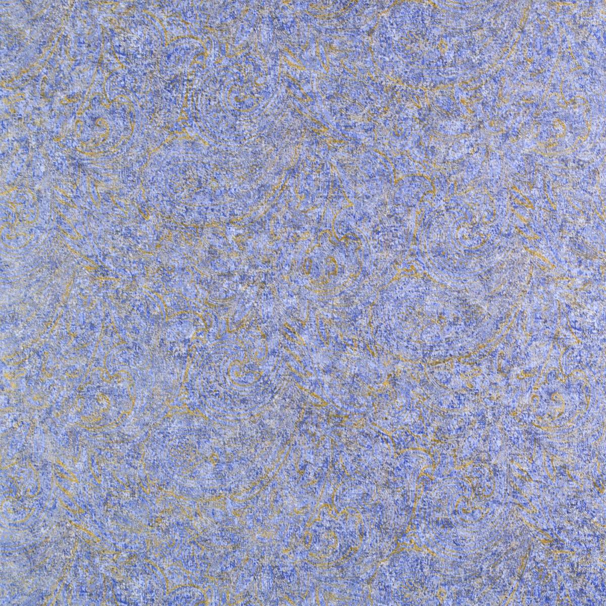 Обои на флизелиновой основе 1.06х10 м пейсли цвет синий Ra 935943