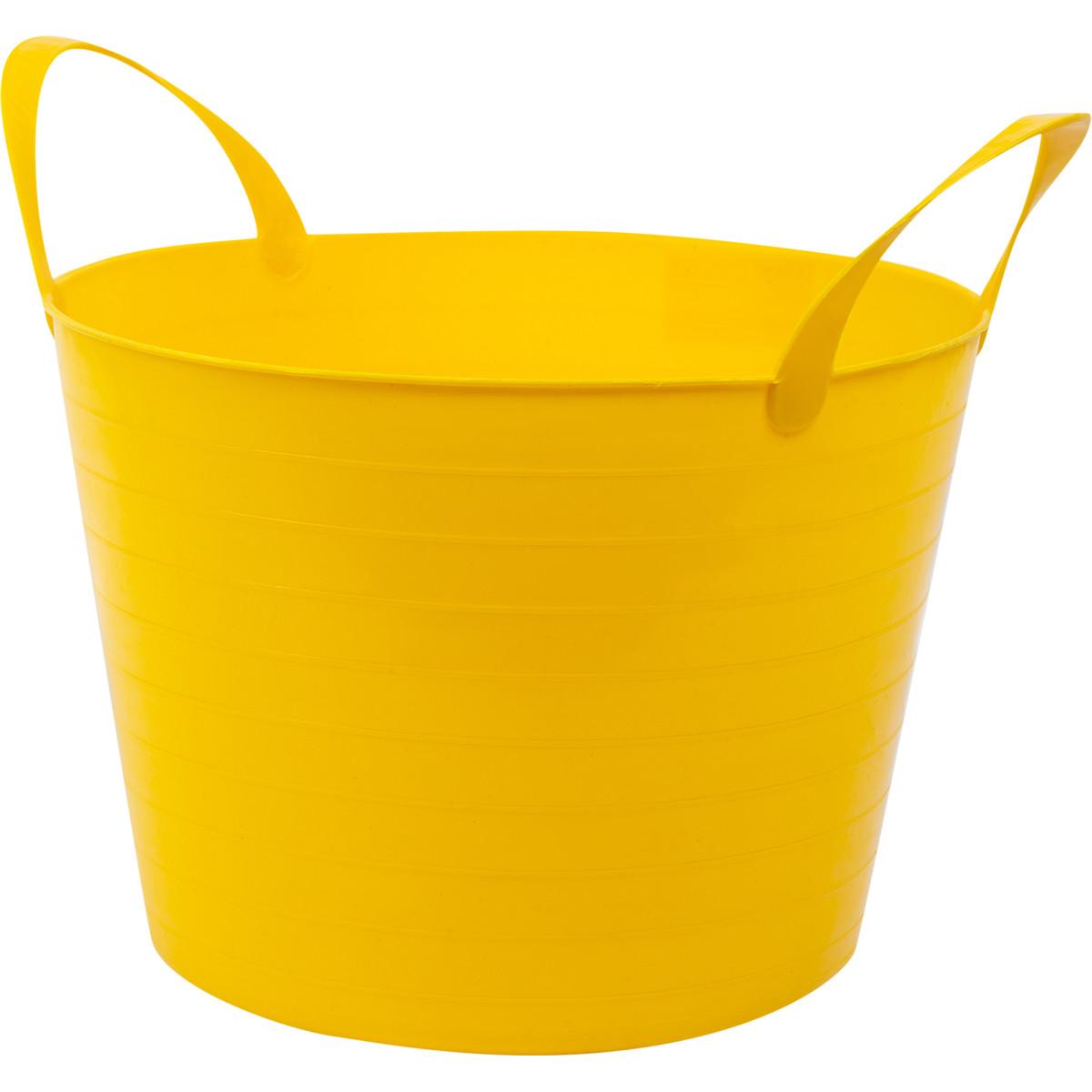 Ведро с ручками гибкое желтое 14 л мягкий пластик