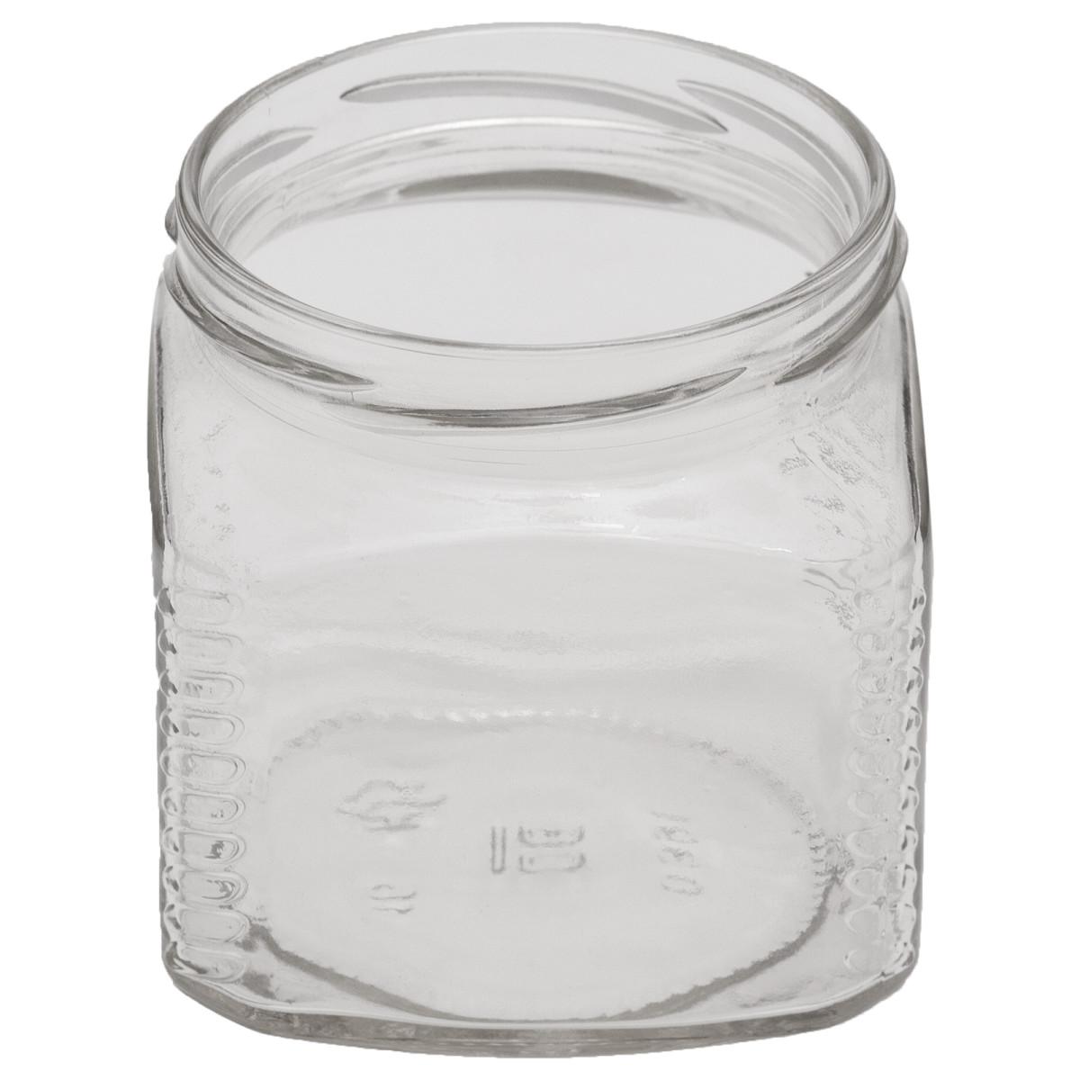 Банка стеклянная ТО-82 «Кубик» 0.39 л