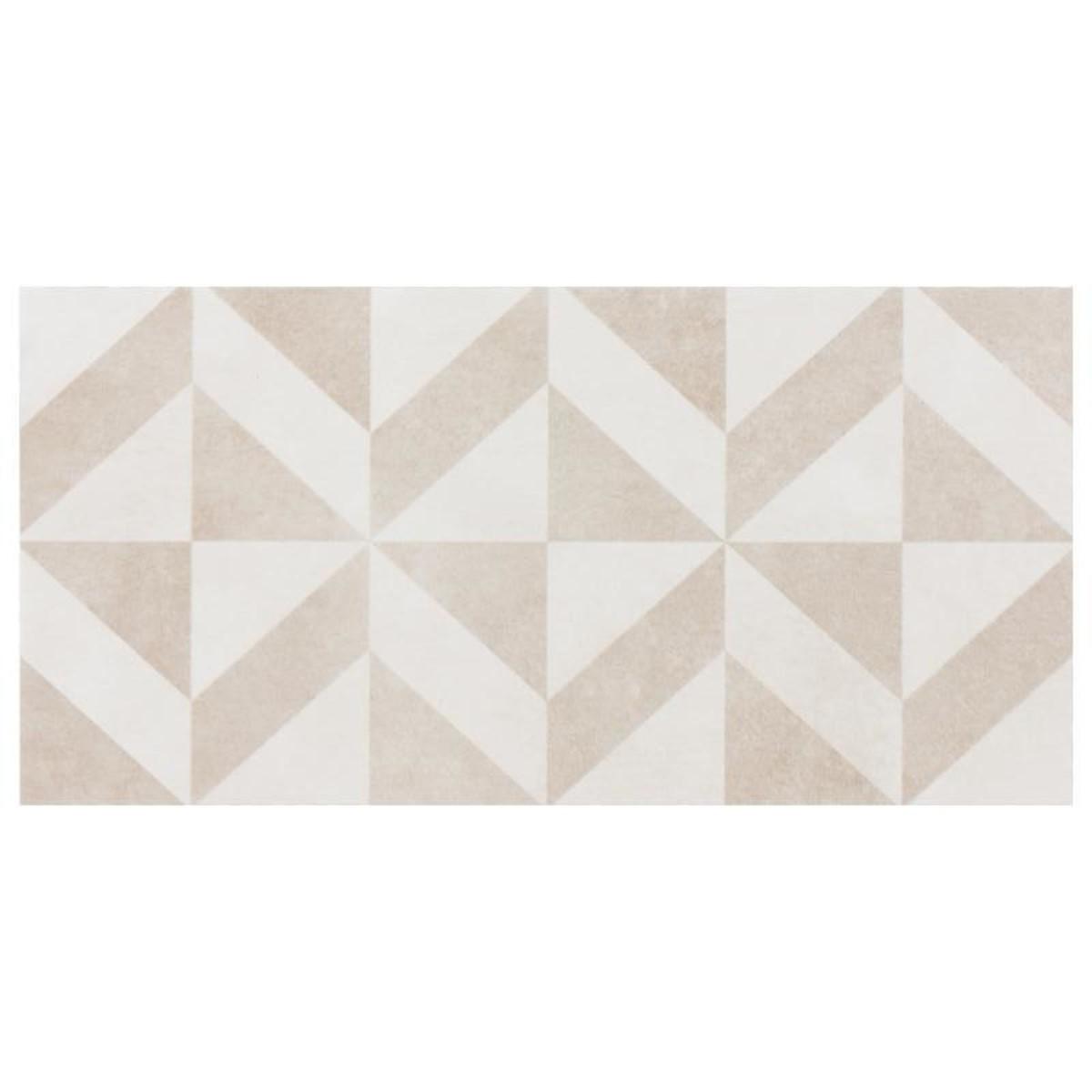 Плитка наcтенная Белая волна 20х40 см 1.58 м2 цвет бежевый