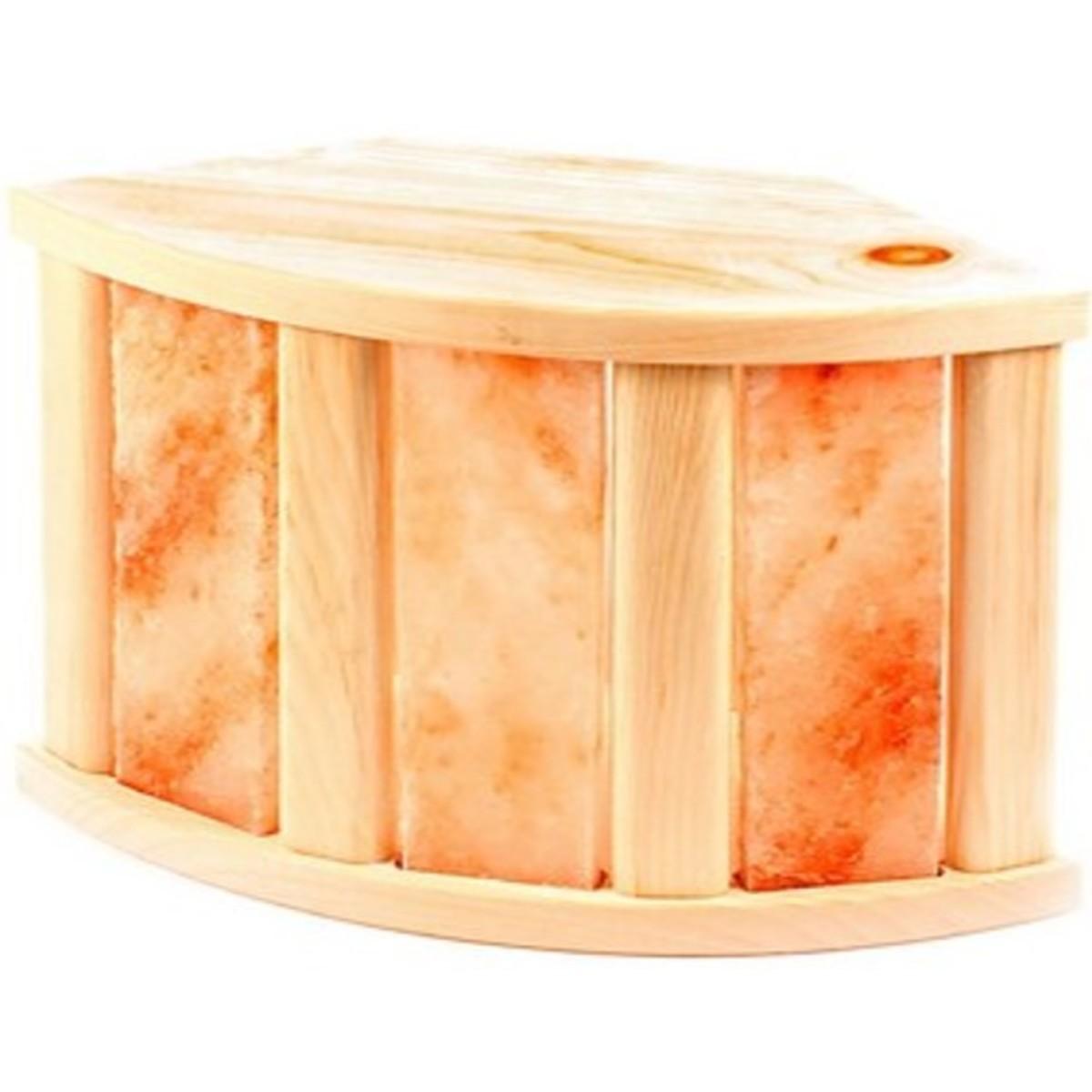 Абажур угловой со вставками из гималайской соли