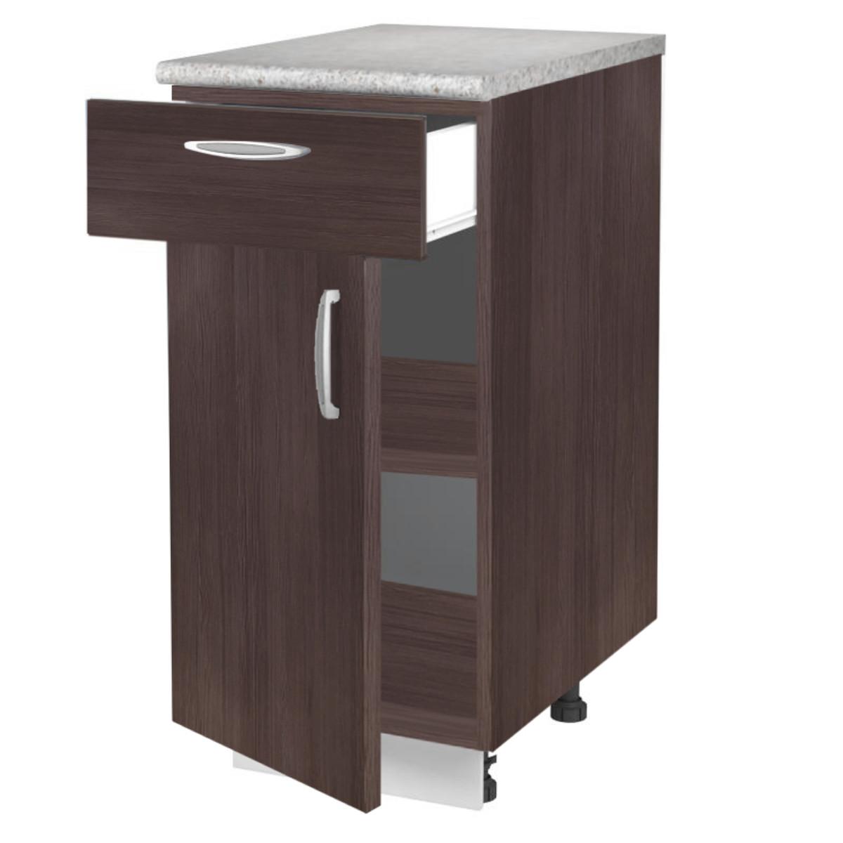 Шкаф напольный Дуб Темный 40 см