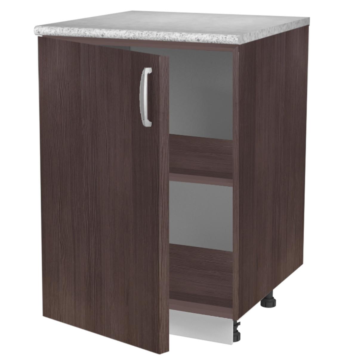 Шкаф напольный Дуб Темный 60 см