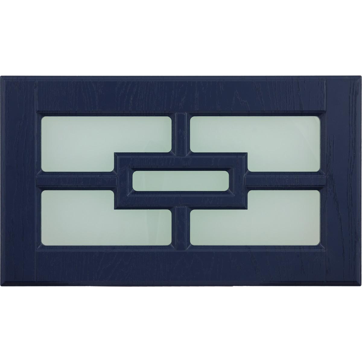 Витрина для шкафа Delinia Антея 60x35 см МДФ цвет синий
