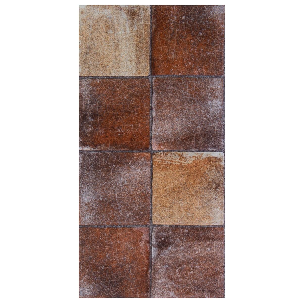 Плитка наcтенная Лофт 20х40 см 1.2 м2 цвет коричневый