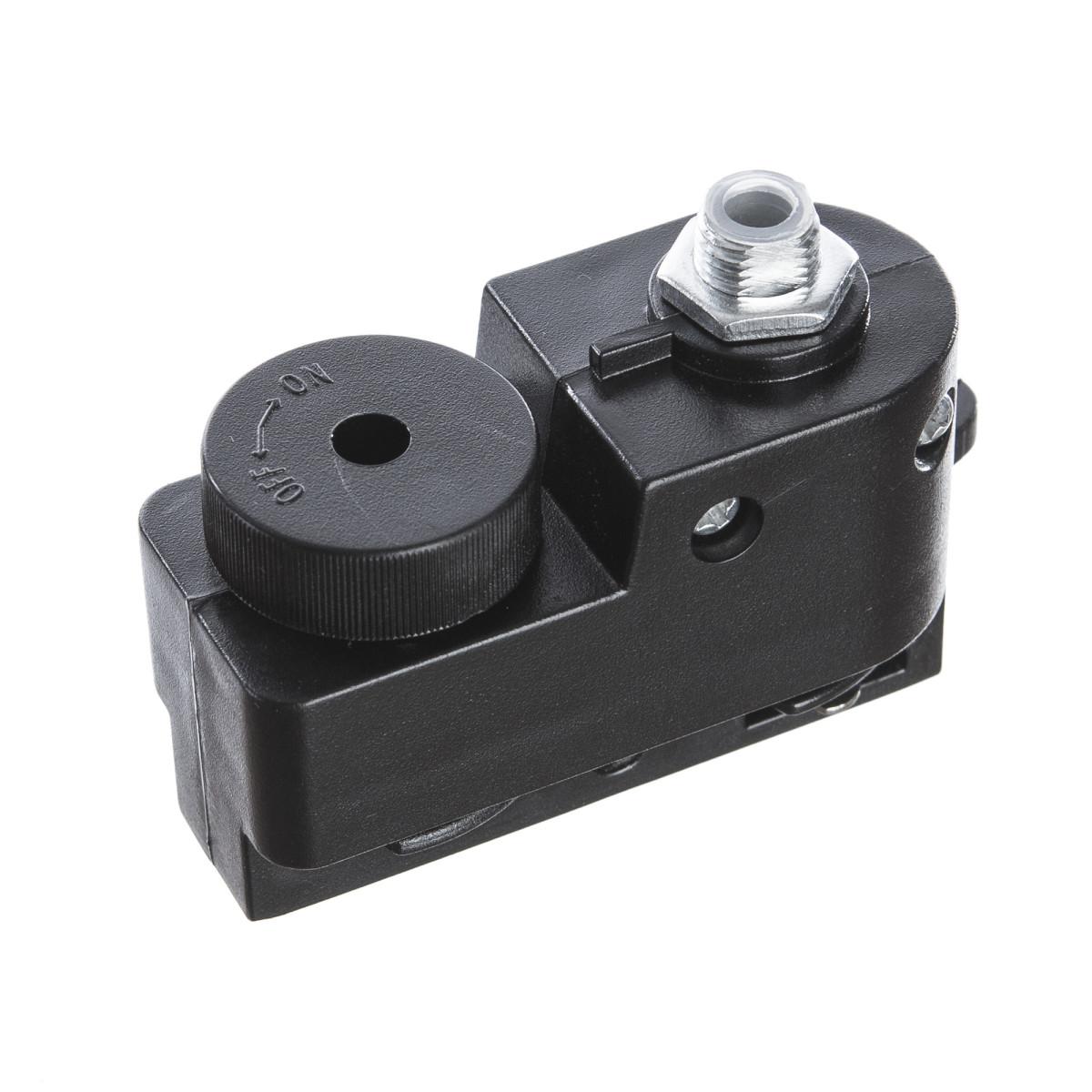 Адаптер для подключения любого светильника к трековой системе цвет черный